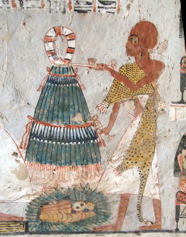 Image taken from the Tomb of Roy in Luxor, Egypt: A